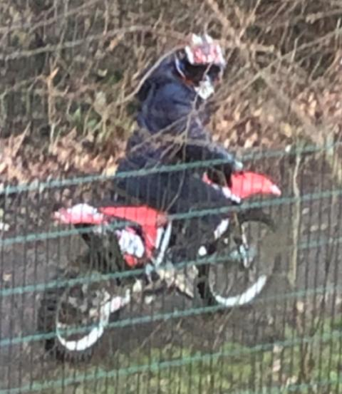Do you recognise red scrambler rider - Southampton