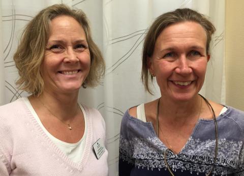 Hanna Waernér (vänster) och Eva-Lotta Funkquist