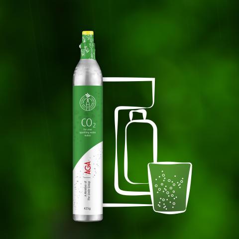 Grön CO2 från AGA.