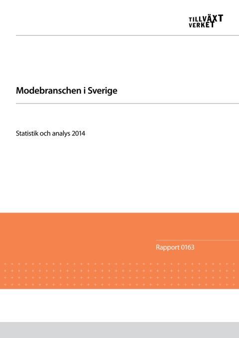 Modebranschen i Sverige 2014