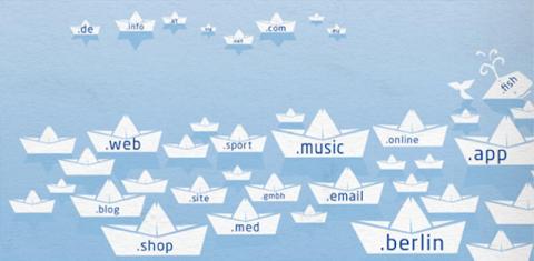 Infografik zu den neuen Domain-Endungen