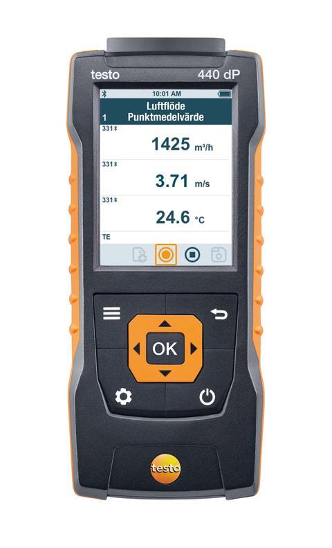 testo 440 dP med integrerad differenstrycksensor