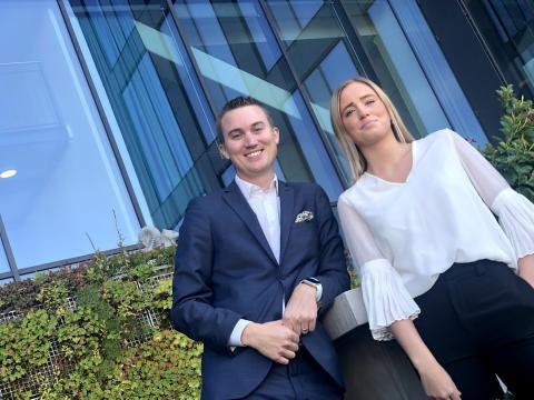 Martin Ruist och Ronja Nyström