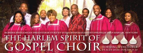 Konsert 12/12 med The Harlem Spirit of Gospel Choir [USA]