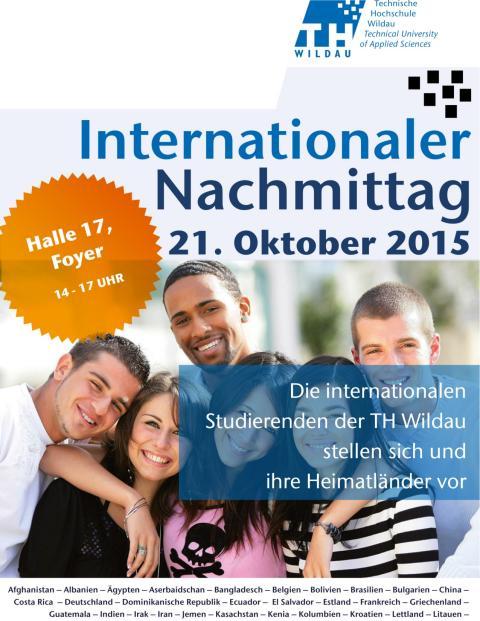 Traditioneller Internationaler Nachmittag am 21. Oktober 2015