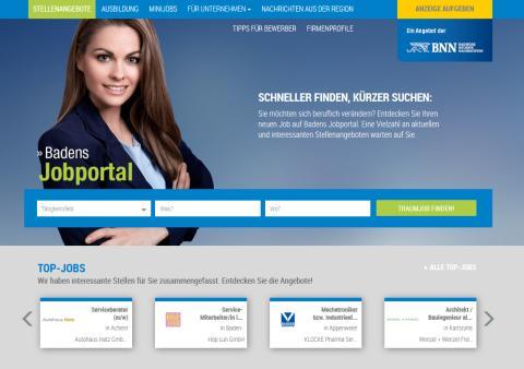 stellenanzeigen.de unterstützt die Badischen Neuesten Nachrichten beim Relaunch der regionalen Jobbörse bnn.de/jobs