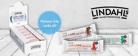 Lindahls low carb proteinbars – snart i hälsohyllan!