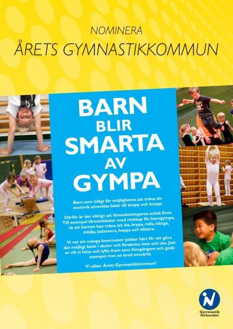 Årets Gymnastikkommun belönas under Idrottens Dag i Almedalen