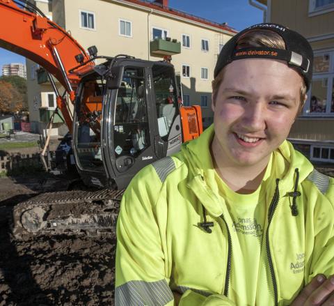 Ung kille med bra maskin ger lyckad rekrytering