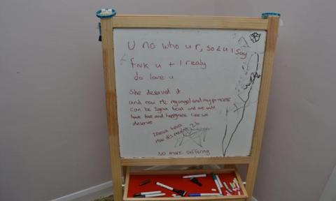 Whiteboard found in Cavanagh's house