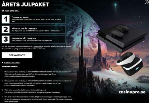 På juldagen lottar vi ut ett Playstation 4 med VR set, gratis att delta! + Garanterat pris till alla!