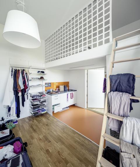 47 kubik. rum med förvaring. HSB Living Lab.