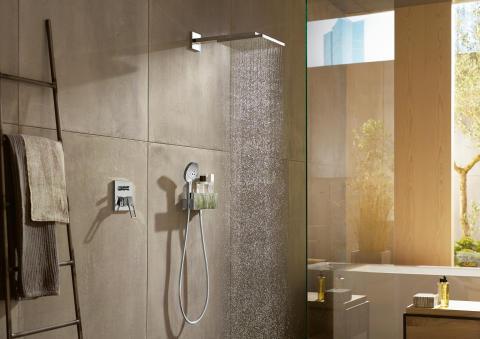 hansgrohe Metropol duschblandare för inbyggnad med Raindance E dusch