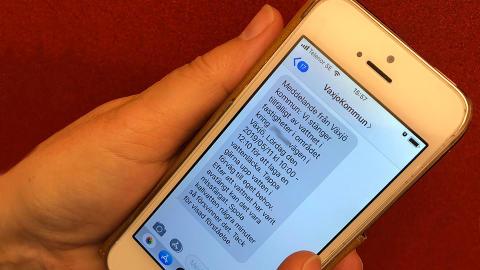 Ny sms-tjänst för snabb information om driftstörningar på dricksvattnet