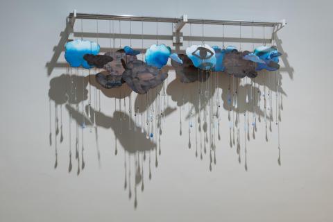 On the verge. Sidsel Paaske, Rain on the Nile, enamel, 1979, installation photo, 2016.