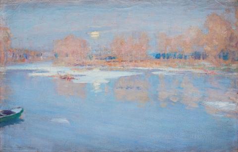William Blair Bruce, Hiver à Grèz (Seine-et-Marne)