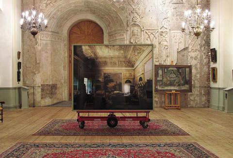 Hyun-Jin Kwak, installationview: Grand #1 at Uppsala Castle 2012