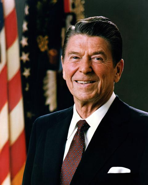 Ronald Reagan Official White House Portrait, 1981.