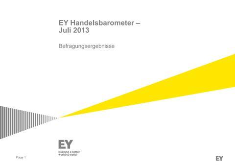 EY Handelsbarometer SSV 2013 Studie