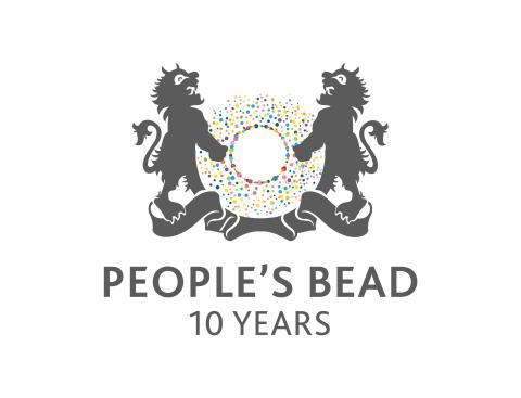 Peoples bead  10 years logo
