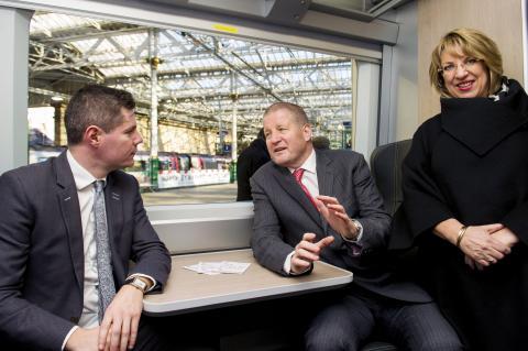 AbellioScotrail - Faster, Longer, Greener 'train' unveiled at Edinburgh Waverley