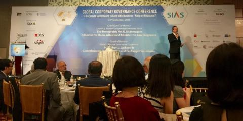 Mark Laudi anchoring the Global Corporate Governance Conference