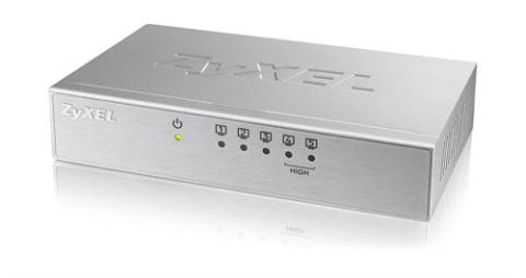 Zyxel switch 5 porte, heraf 2 med højprioritet