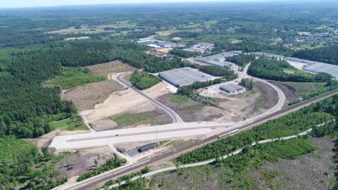 Drönarbild Osby industripark