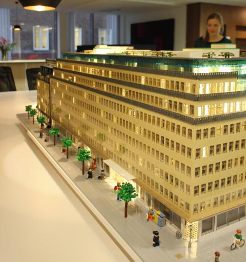 Sveavägen 44 i LEGO, kontorsvy