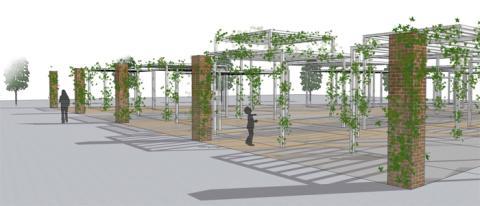 Partilles hängande trädgårdar tar form