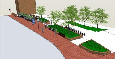Vi bygger nya hållplatser på Södra Vallgatan