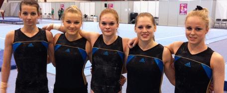 JEM och EM i kvinnlig artistisk gymnastik i Bryssel - två svenska lag på plats - juniorerna kvalar onsdag 9 maj kl 13.00