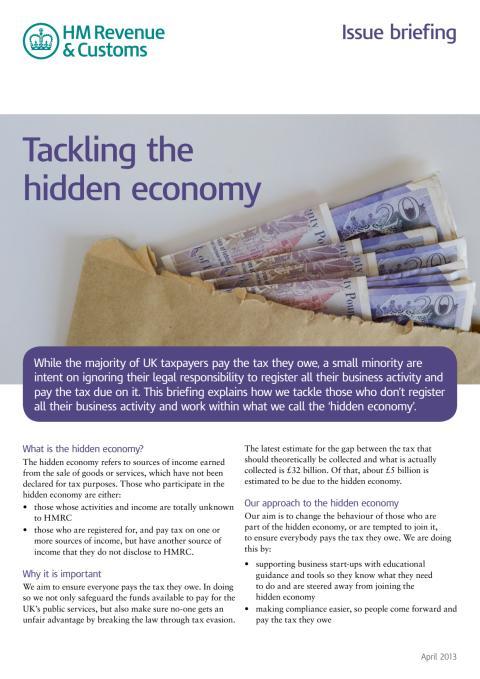 HMRC Briefing - Tackling the hidden economy