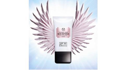 The Body Shopin uusi poikkeuksellisen kevyt ihon suojelija - Skin Defence Essence SPF 50