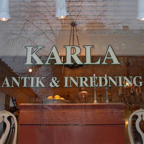 Fönsterdekor Karla antik