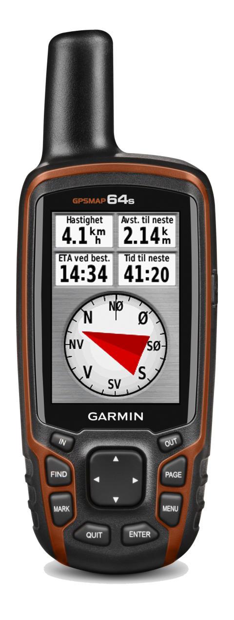Garmin GPSMAP 64 – Robust håndholdt GPS med avanserte sensorer og trådløse tilkoblingsmuligheter