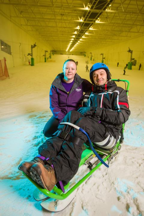 Wakefield stroke survivor hits the slopes thanks to Life after Stroke Grant