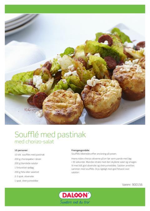 Opskrift: Pastinak soufflé med chorizo-salat