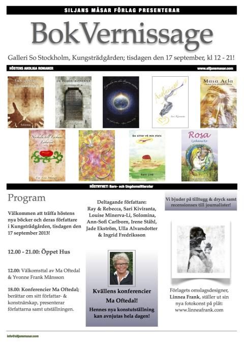 Bokvernissage Kungsträdgården 17 september