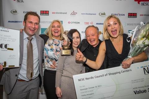 CC Hamar vant kjøpesenterbransjens «Oscar»