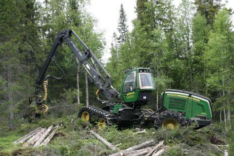 Skogsmaskin Foto: Wiggo Bråten