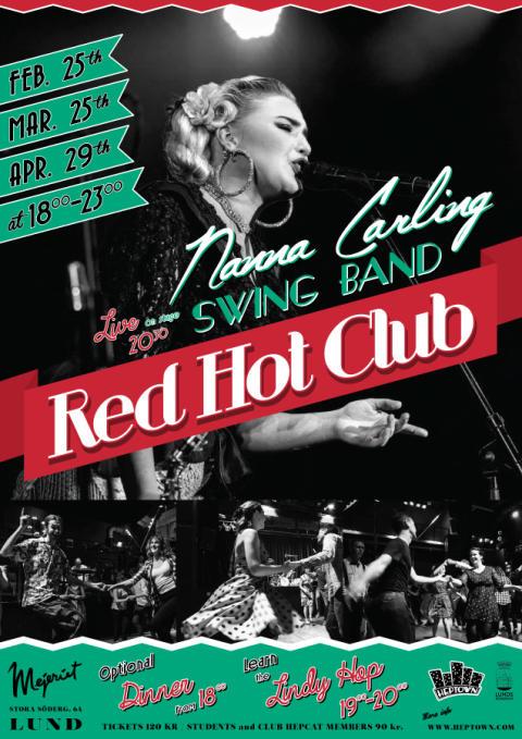 Red Hot Club poster våren 2019. OBS! 29/4 flyttat till 6/5