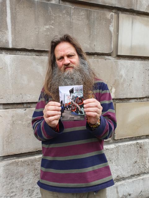 Richard Fletcher with exhibition photo 2019