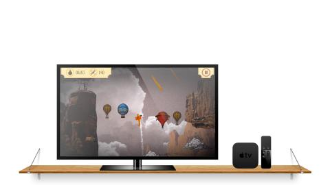 AeroSpin-appen i Apple TV-version