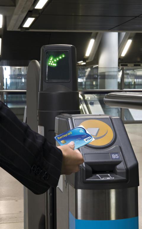 Barclaycard sans contact dans les transports