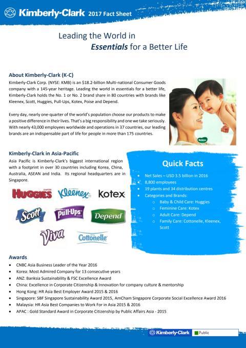 Kimberly-Clark Asia Pacific Fact Sheet