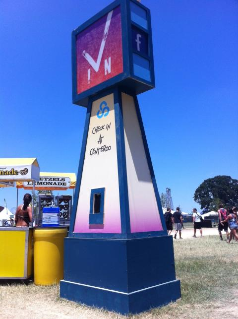 Live Click Stations at Bonnaroo 2012