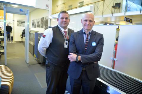 Invigning av Brommas nya och smidigare säkerhetskontroll