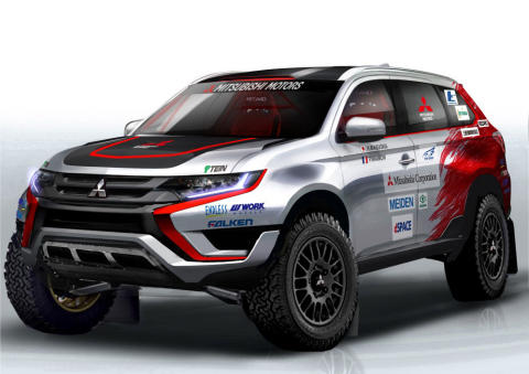 "Plug-in Hybrid Outlander auf der Cross Country-Rallye ""Baja Portalegre 500"""