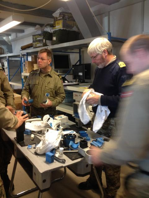 Søværnet, Søopmålingens Tekniske Afdeling har netop veloverstået installationstræningen